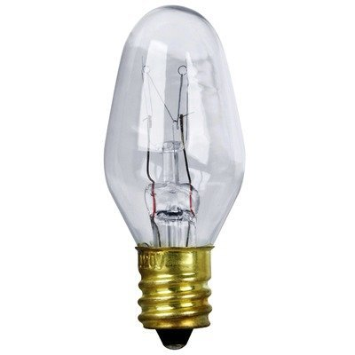Triangle Bulbs T20421 7-Watt C7 Incandescent Night Light Bulb, Clear, 25-Pack