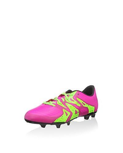 adidas Botas de fútbol X 15.3 FG/AG Rosa / Verde