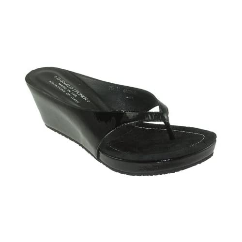 Amazon.com: Donald J Pliner Guenna Women's Wedge Thong Sandals Black