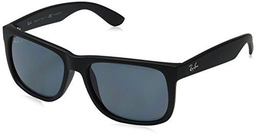 ray-ban-justin-black-rubber-frame-dark-blue-polar-lenses-55mm-polarized