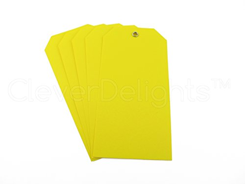 Ʊ 200 Pack - Yellow Plastic Tags - 4 75