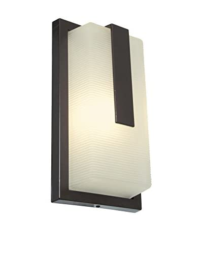 Access Lighting Neptune 13″ LED 1-Light Wet Location Wall Fixture, Satin/Ribbed Frosted