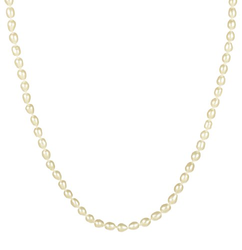 5-6mm White Rice Pearl Necklace 20