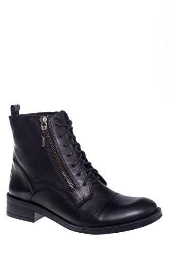 Nahdia Lace-Up Low Heel Boot