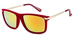 Rafa Wayfarer Sunglasses (Red) (81532REDMIRSMK)