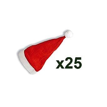 Bonnets de père Noël (lot de 25)