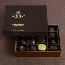 Godiva Small Dark Chocolate Assortment Gift Box