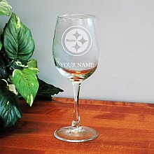 NFL Personalized Wine Glass (Steelers) at Amazon.com