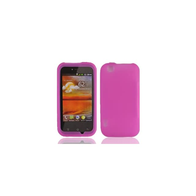 For T mobil Mytouch Lg Maxx Touch E739 Accessory   Pink Silicon Skin Case Proctor Cover + Free Lf Stylus Pen Cell Phones & Accessories