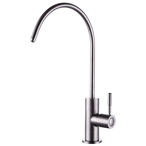 Kes Z501C Lead Free Beverage Faucet Drinking Water Filtration System 1/4-Inch Tube, Brushed Stainless Steel front-449164
