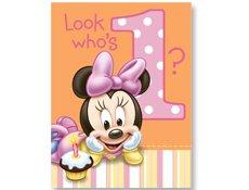 HALLMARK MARKETING CORP. Minnie's 1st Birthday Party Invitations