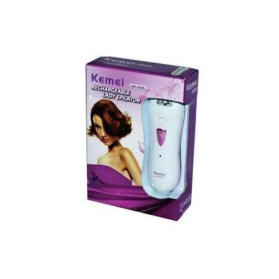 Kemei Km-290r Rechargeable Epilator Cum Shaver For Women Bikini Lines,Under arms etc