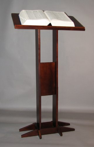 Freestanding Book Stand, Mahogany Finish