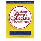 MER69 - Hardback Collegiate Thesaurus, 894 Pages, 7-3/8x9-7/8