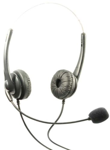 Headset Dual Headphones Call Center Aastra Telecom Shoretel Avaya Telephone