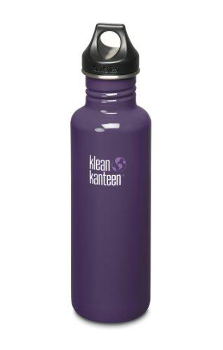Trinkflasche-Flasche-Loopverschluss-Edelstahlflasche-Wasserflasche-lila-800-ml