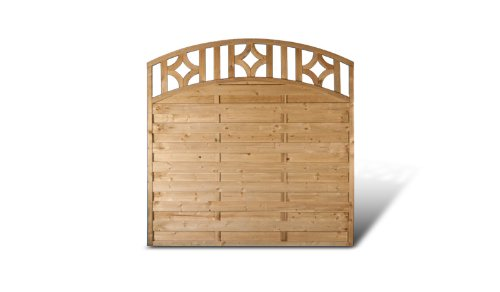 sichtschutz garten zaunfelder mit bogenverlauf im ma 180 x 180 auf 160 cm breite x h he aus. Black Bedroom Furniture Sets. Home Design Ideas
