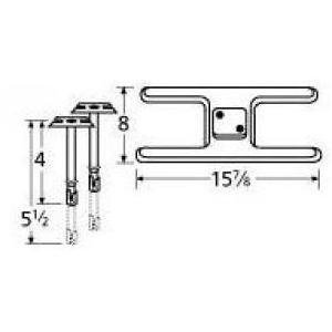 Music City Metals 11102-70201 Stainless Steel Burner Replacement for Select Charbroil and Patio Kitchen Gas Grill Models