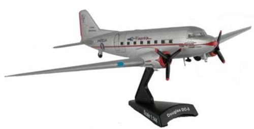 DC-3 Eastern Airlines 1930-40's Air Transport Aircraft Built-Up Die Cast 1-144 Model Power