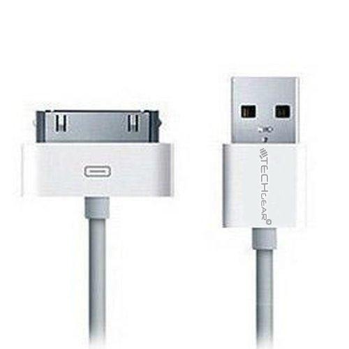 TECHGEAR Ladekabel / Datensynchronisierung für Apple iPad / iPad2 / iPad3, USB, Weiß