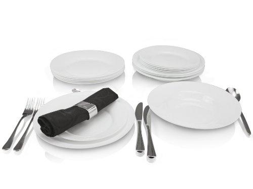 Cookado-Tellerset-Opalglas-18-teilig-wei-Fr-6-Personen-gehrtetes-Opalglas-3-mal-strapazierfhiger-als-herkmmliches-Porzellan-100-recyclebar-Unempfindlich-gegen-HitzeKlteschocks