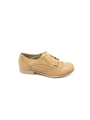 Emma Beige, 40, Beige - Scarpe Stringate Basse in eco pelle - Martina Gabriele shoes
