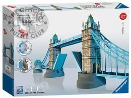 1 X Ravensburger London Tower Bridge Building 3d Puzzle (216 Pieces)