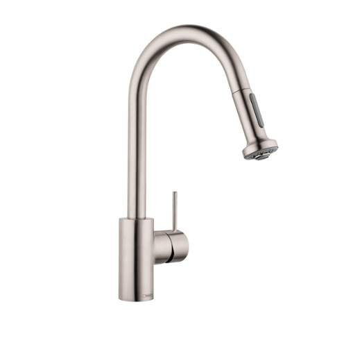Hansgrohe 06801861 Talis S Higharc Single Hole Kitchen with Pull Out 2 (Talis Kitchen Faucet compare prices)