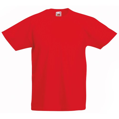 KINDER T-SHIRT FRUIT OF THE LOOM VALUE 128 140 152 164 164,Rot