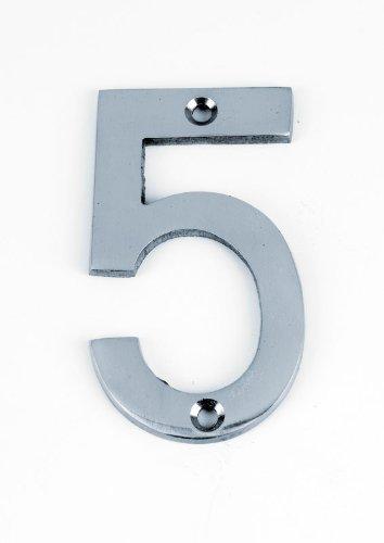 Yale numeral 5 Chrome