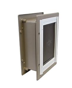 PetSafe Telescoping Aluminum Wall Entry Pet Door, Small