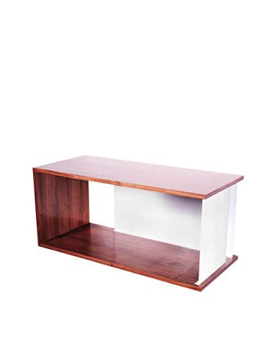 nine6 City Life Module Wall Cabinet, Walnut/White