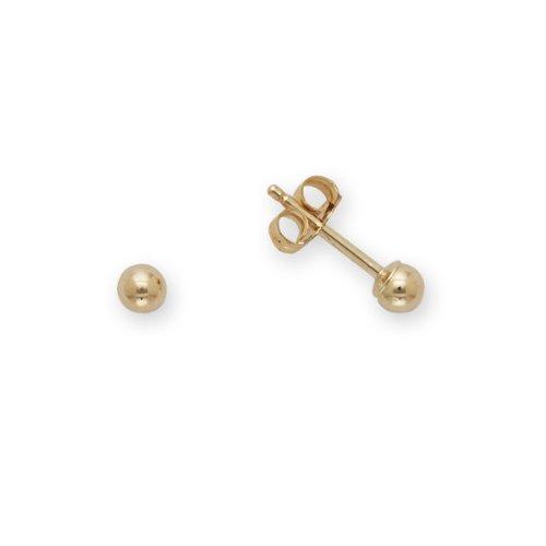 Baby Ball Earrings 14k Yellow Gold (3mm)