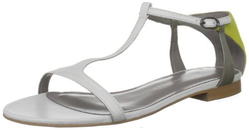 KG by Kurt Geiger Women's Myrtle 2 White Open Toe Flats 2816210109 4 UK