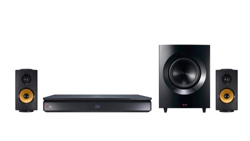 LG BH7240C Sistema Home Theater con lettore Blu-Ray 3D, 2.1 Canali da 600W, Ultra HD Upscaling, Wi-Fi integrato, Compatibile Bluetooth