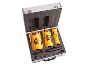 Faithfull DCKIT7C Diamond Core Drill Kit and Case 1/2-inch BSP Thread (7 Pieces)