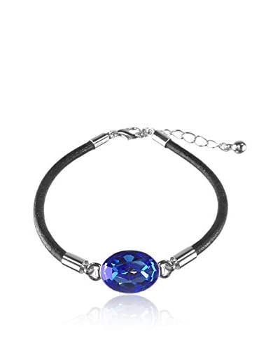 Bohemian Love Story Pulsera Rounded Leather Oval Azul