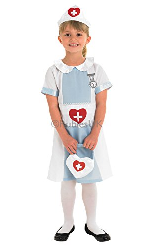 Kids Nurse S - Hospital Fancy Dress Party Costume Outfit Girls Children Dress Up