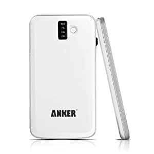 Anker® SlimTalk 3200mAh Backup External Battery Pack Charger with Embedded Micro-USB and Flashlight for iPhone 5 4S 4 3GS, iPod (OEM CABLE REQUIRED for Apple); Android Phones: Samsung Galaxy S3, Galaxy S2, Galaxy Nexus, Galaxy Note / HTC One X One S Sensation, EVO, ThunderBolt / Motorola Droid Razr / Nokia N9 Lumia 800 900 - White [Ultra Slim 0.4 Inch Profile]