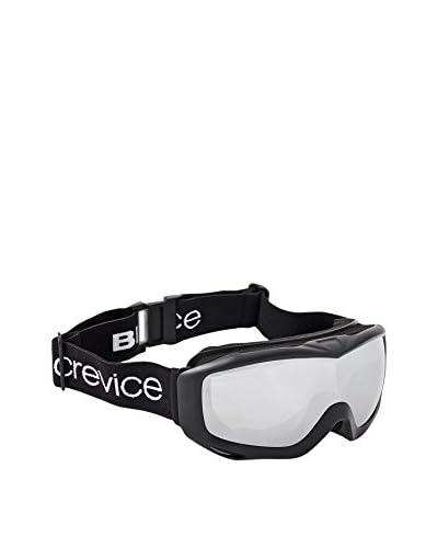 Black Crevice Máscara de Esquí Negro / Plateado Única