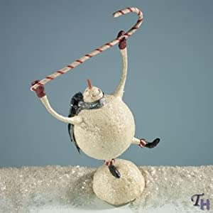 Demdaco Mistletoe Manor Snowman with Candy Cane