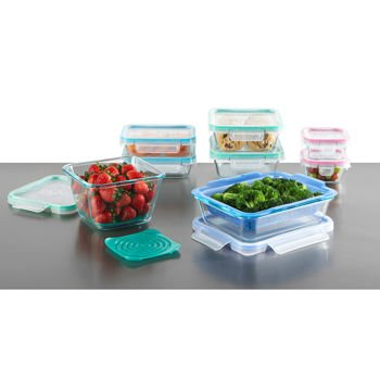 Snapware Airtight & Leakproof Pyrex Glass Food Keeper Set 19-PC