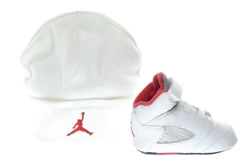 Jordan 5 Retro (GP) Infants Shoes Gift Pack White/Fire Red-Black 552494-100 (4 M US)
