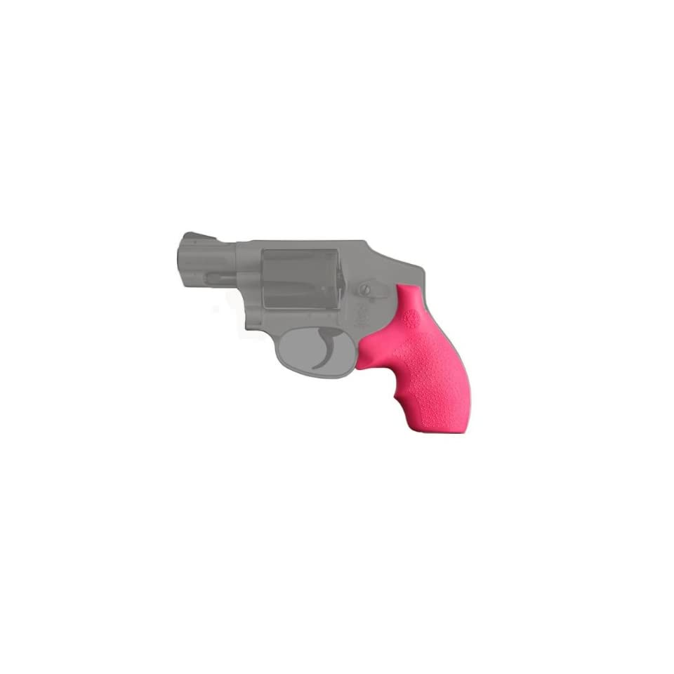 Hogue S&W J Frame Round Butt Rubber Bantam Style Grip, Pink (Apr  16
