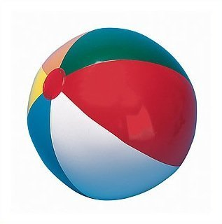 Champion Sports 12in Multicolored Beach Ball - 1
