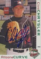 Clint Chrysler Altoona Curve - Pirates Affiliate 2002 Grandstand Autographed Hand... by Hall of Fame Memorabilia