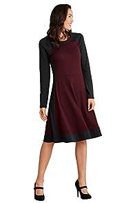 Fair Indigo Fair Trade Organic Colorblock Dress