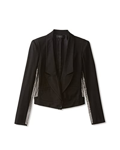Reese + Riley Women's Taylor Cropped Blazer with Mesh Inserts