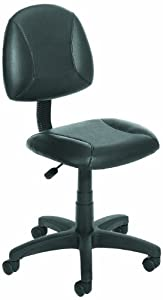 Boss Leather Plus Posture Task Chair Without Arms