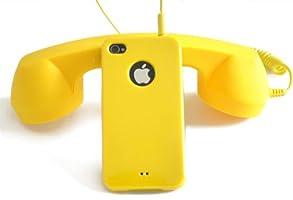 BEST PHONE iPhone/ipadアクセサリー オシャレでカワイイ受話器型ハンドセット 8カラー (イエロー)